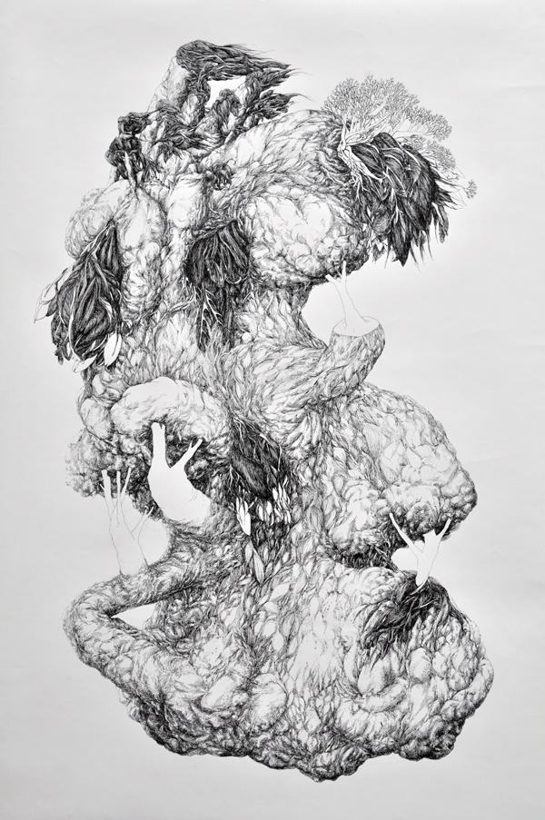 98x145cm / papier 170 gr / plume / encre de chine / photographie Julien Robiche